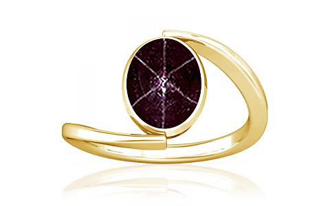 Star Ruby Gold Ring (A6)