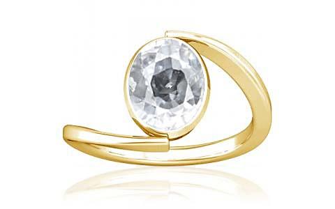 White Zircon Gold Ring (A6)