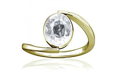 White Zircon Panchdhatu Ring (A6)