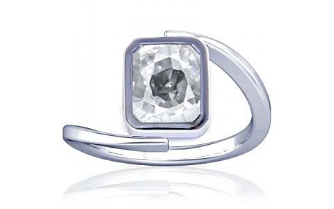 White Zircon Silver Ring (A6)