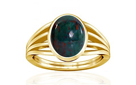 Bloodstone Gold Ring (A7)