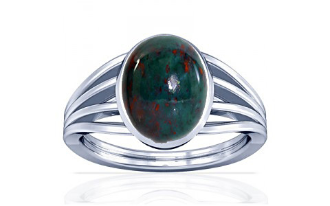 Bloodstone Silver Ring (A7)