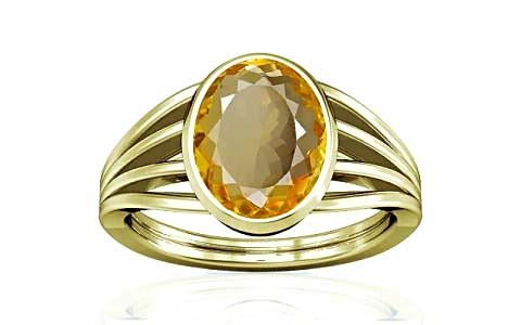 Citrine Panchdhatu Ring (A7)