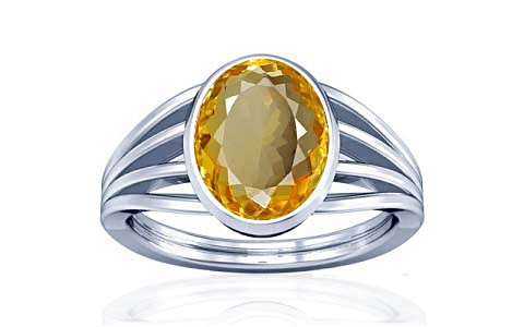 Citrine Silver Ring (A7)