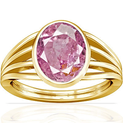 Pink Sapphire Gold Ring (A7)