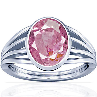 Pink Sapphire Sterling Silver Ring (A7)