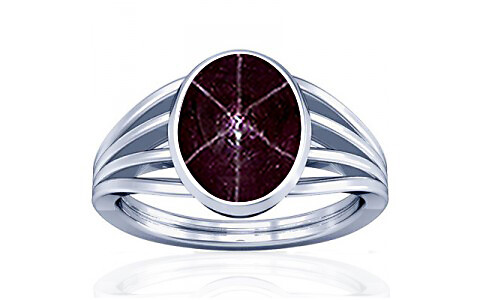 Star Ruby Silver Ring (A7)