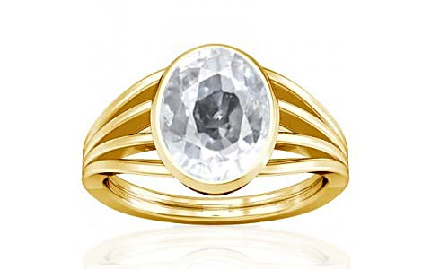 White Zircon Gold Ring (A7)