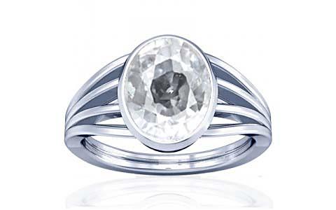 White Zircon Silver Ring (A7)