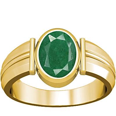 Green Beryl Gold Ring (A9)