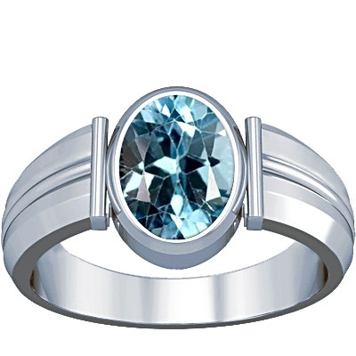 Blue Topaz Silver Ring (A9)