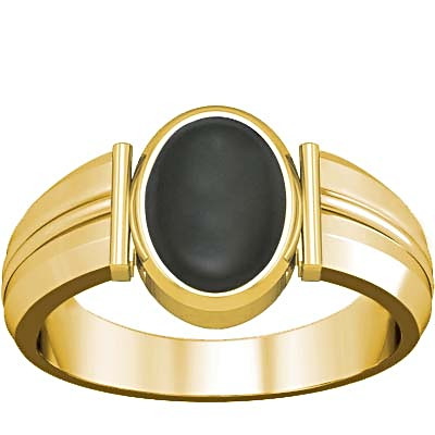 Gray Moonstone Gold Ring (A9)