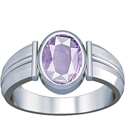Purple Sapphire Sterling Silver Ring (A9)