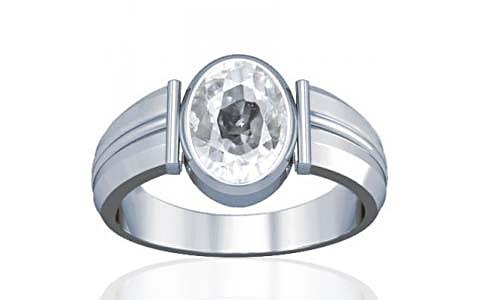White Zircon Silver Ring (A9)