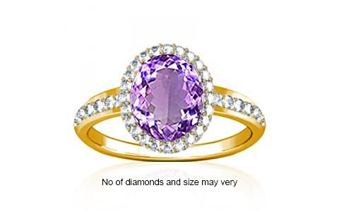 Amethyst Gold Ring (R1-Dazzle)