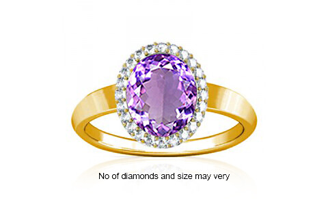 Amethyst Gold Ring (R1-Sparkle)