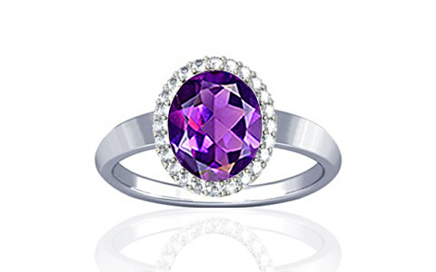 Amethyst Sterling Silver Ring (R1-Sparkle)