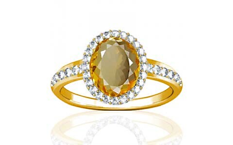 Citrine Gold Ring (R1-Dazzle)