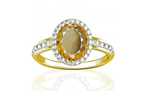 Citrine Panchdhatu Ring (R1-Dazzle)