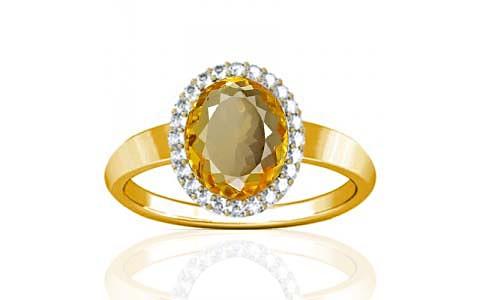 Citrine Gold Ring (R1-Sparkle)