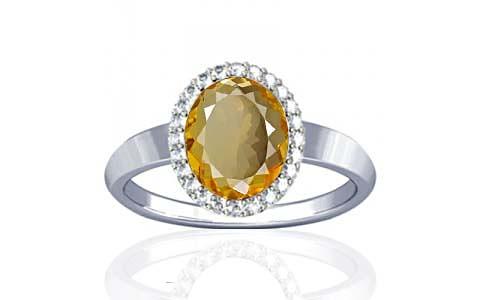 Citrine Sterling Silver Ring (R1-Sparkle)