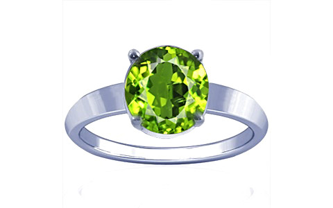 Peridot Sterling Silver Ring (A18)