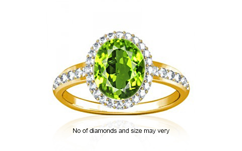Peridot Gold Ring (R1-Dazzle)