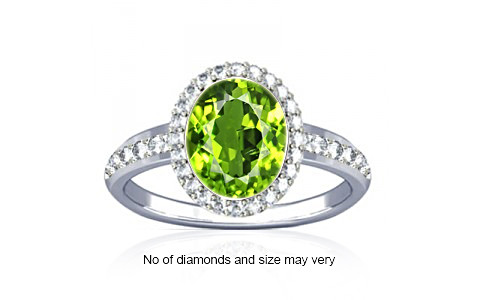 Peridot Sterling Silver Ring (R1-Dazzle)