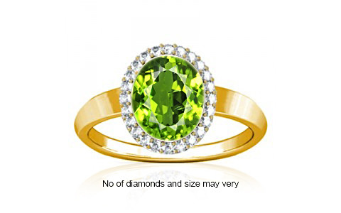 Peridot Gold Ring (R1-Sparkle)