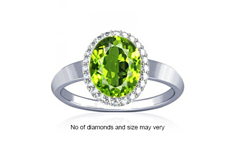 Peridot Sterling Silver Ring (R1-Sparkle)