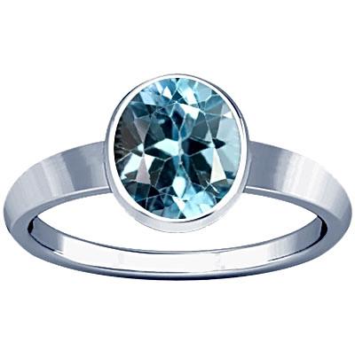 Blue Topaz Sterling Silver Ring (R1)
