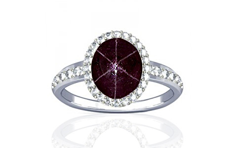 Star Ruby Sterling Silver Ring (R1-Dazzle)