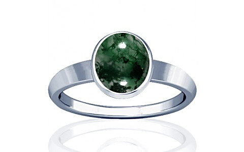 Moss Agate Sterling Silver Ring (R1)