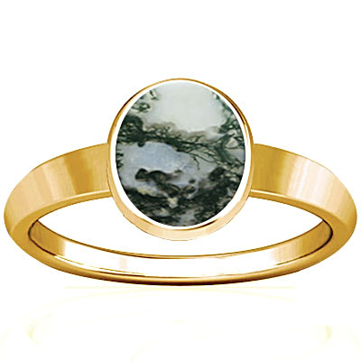 Moss Agate Gold Ring (R1)