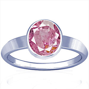 Pink Sapphire Sterling Silver Ring (R1)