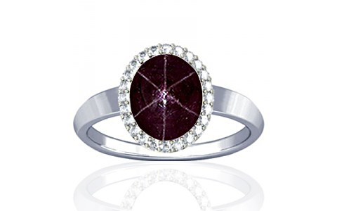 Star Ruby Sterling Silver Ring (R1-Sparkle)