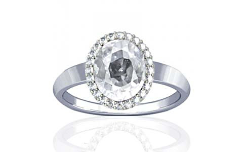 White Zircon Sterling Silver Ring (R1-Sparkle)