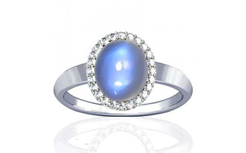 Blue Sheen Moonstone Sterling Silver Ring (R1-Sparkle)
