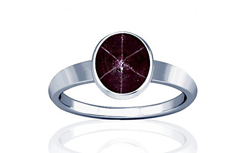 Star Ruby Sterling Silver Ring (R1)