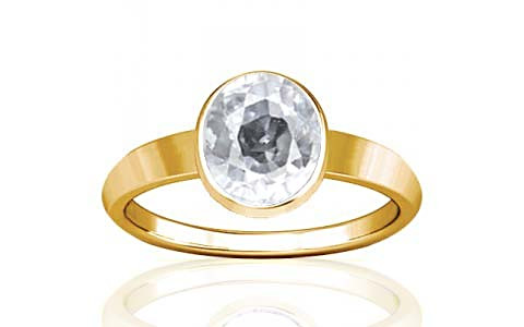 White Zircon Gold Ring (R1)