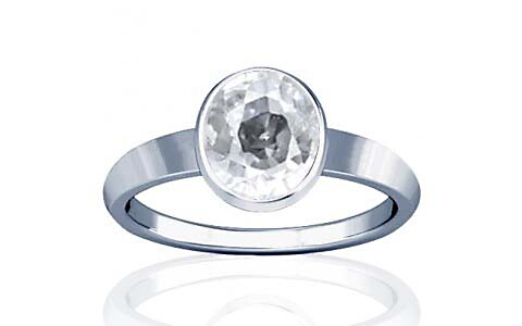 White Zircon Sterling Silver Ring (R1)