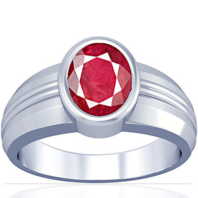 Ruby (Old Burma) Silver Ring (A4)