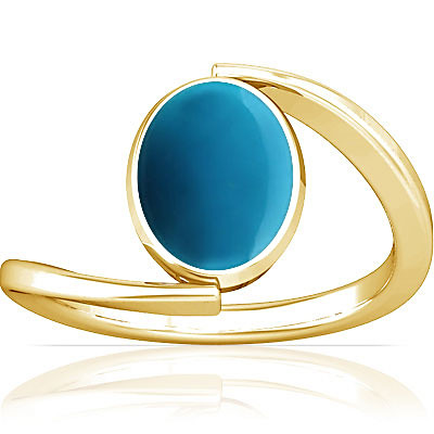 Turquoise Gold Ring (A6)