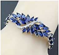 Blue Zircon Bracelet