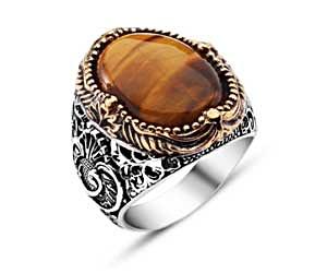 Tiger Eye Jewelry Ring