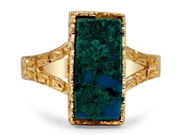 Azurite Rings in Gold