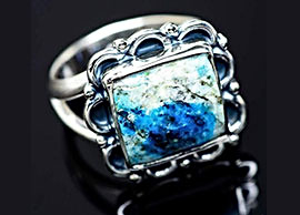 Azurite Rings in Silver