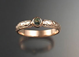 Silver &Green Sapphire Ring