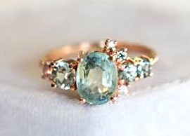 Light Green Sapphire Ring