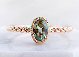 Copper Green Sapphire Ring